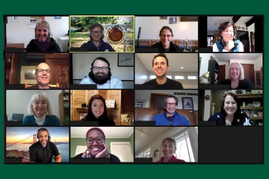 This images shows a group of HAI professionals participating in a Zoom meeting.